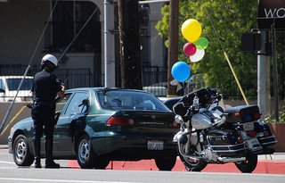LAPD Traffic Stop Woodman Ave. Arleta CA