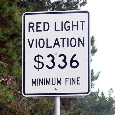 an image of Miami red light violation