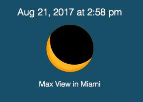 Miami Solar Eclipse