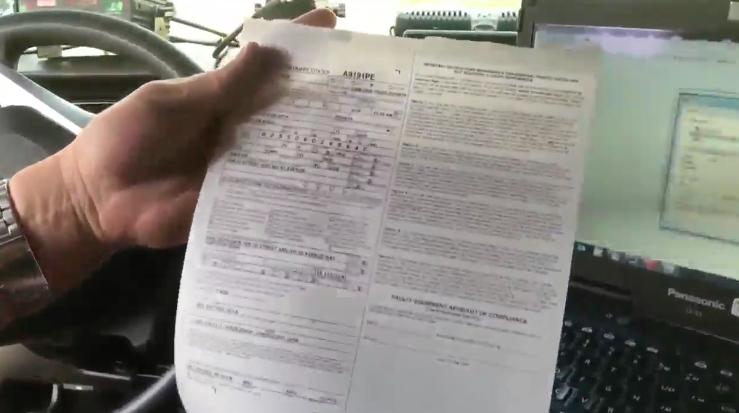 Electronic traffic ticket